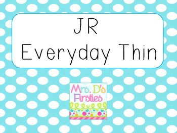 JR Everyday Thin Font