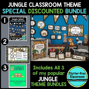 JUNGLE ~ SAFARI Classroom Theme Packet ~ Printable Decor and More