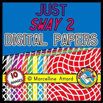 JUST SWAY DIGITAL PAPERS: WAVY CLIPART BACKDROPS: WAVY BAC