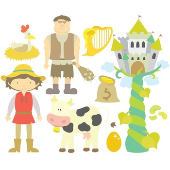 Jack And The Beanstalk Digital Clipart & Vector Set