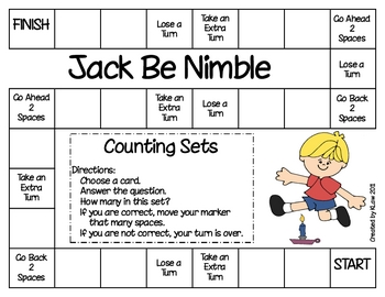 Jack Be Nimble Game--Counting Sets