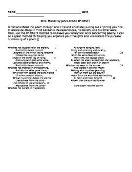 "Jack London: Poem ""Moods"""