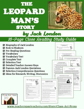 The Leopard Man's Story: Study Guide for Jack London's Sto