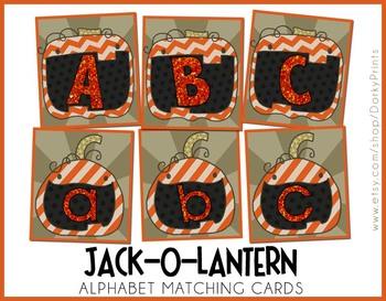 Jack-O-Lantern Alphabet Matching Cards