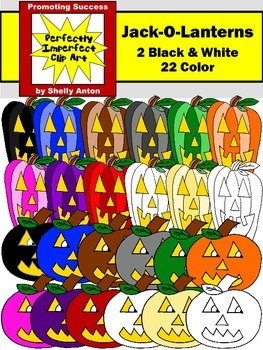 Jack O'Lanterns Halloween Clipart PUMPKINS Commerical Use