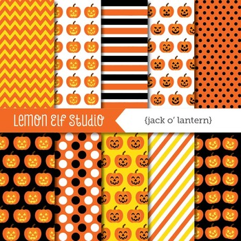 Jack O'Lantern-Digital Paper (LES.DP45)
