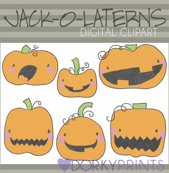 Jack-O-Lantern Halloween Digital Clip Art