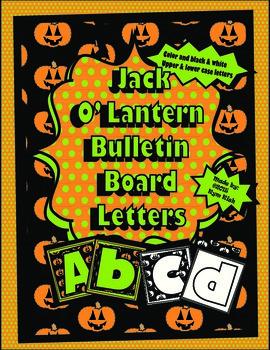 Jack O'Lantern Letters