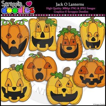 Jack O Lanterns Clip Art & Line Art