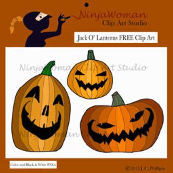 Jack O' Lanterns FREE Clip Art
