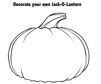 Jack-O-Latern- Decorate Your Own Jack-O-Latern