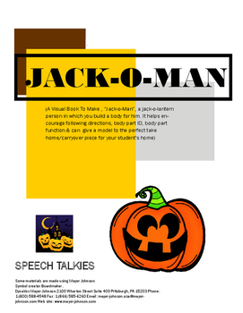 Jack-O-Man for Halloween All About Me