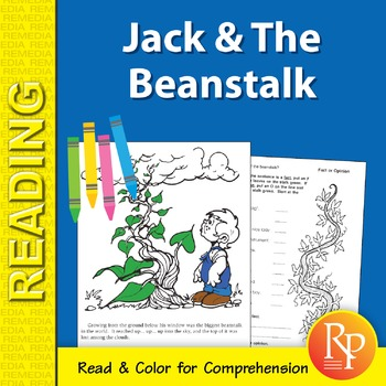 Jack & The Beanstalk: Read & Color