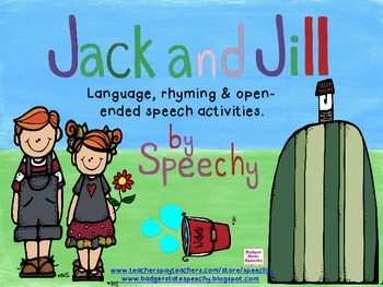 Jack and Jill:  Language, rhyming and open-ended speech ac