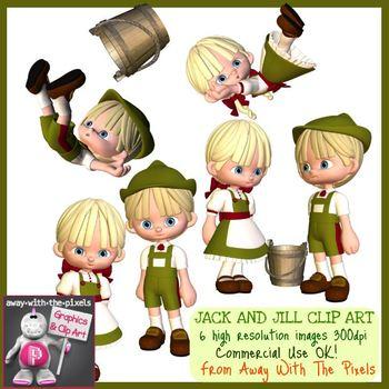 Jack and Jill Nursery Rhyme Clip Art - High Quality Clipar