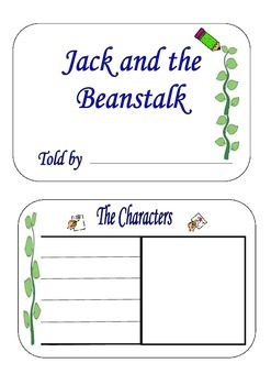 Jack and the Beanstalk - (RL 1.3 Common Core Standards)