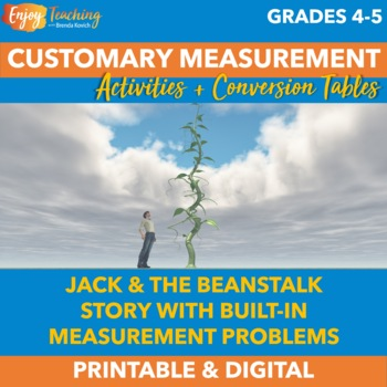 Jack and the Beanstalk Customary Measurement Activity Book