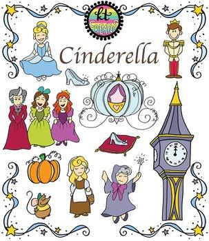 Cinderella Fairytale Clipart Set {KT Creates Original}