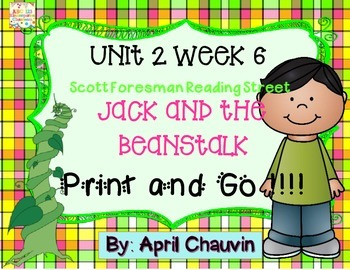 Jack and the Beanstalk : Print and Go  Unit 2 Week 6 Readi