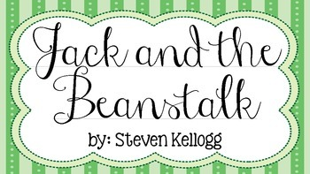 Jack and the Beanstalk Vocabulary Introduction Powerpoint