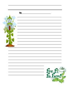 Jack and the Beanstalk Writing Paper