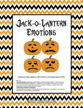 Jack-o-Lantern Emotions Mini-Unit ~ NEW LESSON INCLUDED!