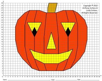 Halloween, Jack-o'-Lantern, Coordinate Graphing, Coordinat