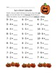 Jack-o-Lantern Subtraction