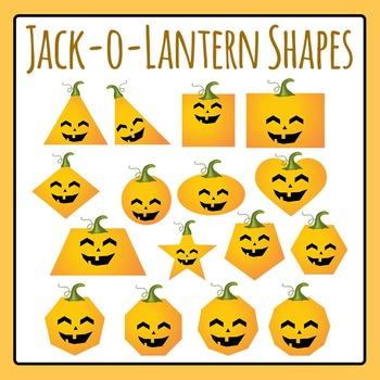 Jack-o-lantern 2D Shapes Clip Art for Commercial Use