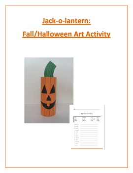 Jack-o-lantern: Fall/Halloween Art Activity