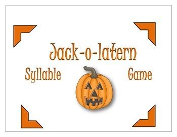 Jack-o-lantern Syllable Game