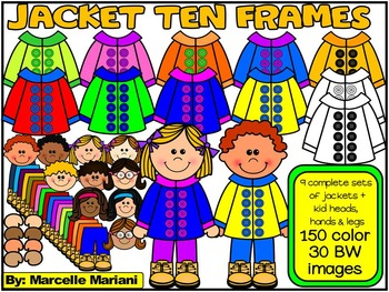 Spring Jacket Ten Frames Clip Art
