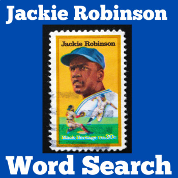 Jackie Robinson Activity | Jackie Robinson Word Search | Baseball