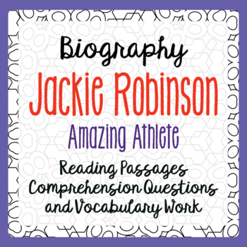 Jackie Robinson Biography Informational Texts, Activities