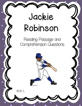 Jackie Robinson Black History Month Reading Comprehension