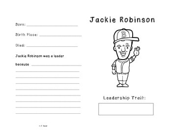 Jackie Robinson Leadership Trading Card
