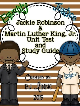 Jackie Robinson & Martin Luther King, Jr. Unit Test and St