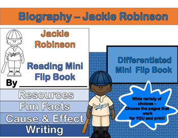 Jackie Robinson - Mini Biography Flip Book (Differentiated