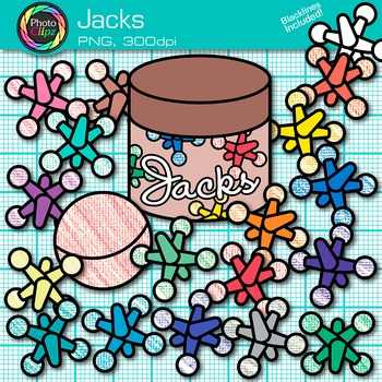 Jacks Clip Art - Counting and Sorting Manipulatives Clip A