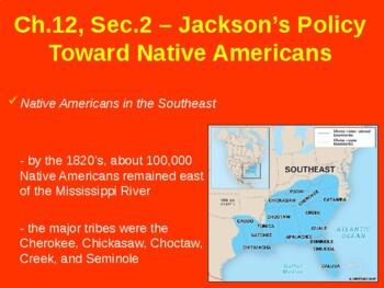 Jackson's Policies Towards Native Americans