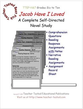 Jacob Have I Loved: A Complete Novel Study