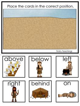 Jacob and Esau Positional Game printable game. Preschool B