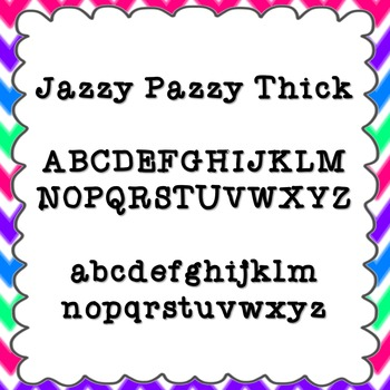 Jazzy Pazzy Thick Font {personal and commercial use; no li