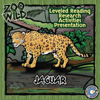 Jaguar -- 10 Resources -- Coloring Pages, Reading & Activities