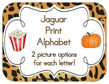 Jaguar Print Alphabet Cards