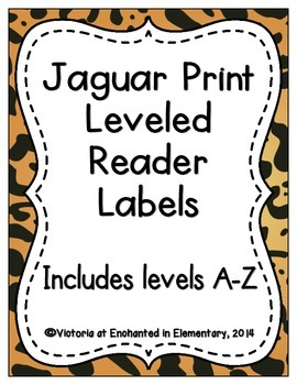 Jaguar Print Leveled Reader Labels