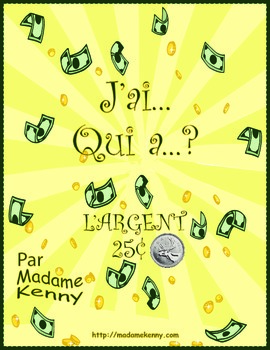 J'ai... Qui a..? Canadian Money to $5.00 in 25 cent increments