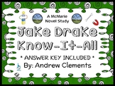 Jake Drake, Know-It-All (Andrew Clements) Novel Study / Re