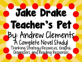 Jake Drake, Teacher's Pet- A Complete Novel Study!