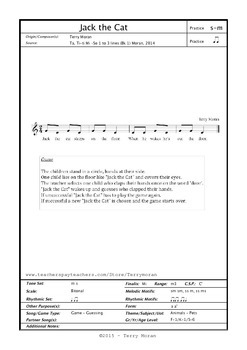 Jake The Cat - Song Sheet